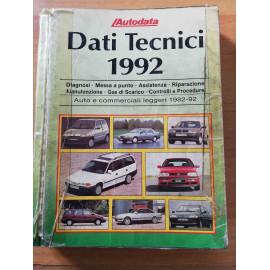AUTODATA DATI TECNICI 1992