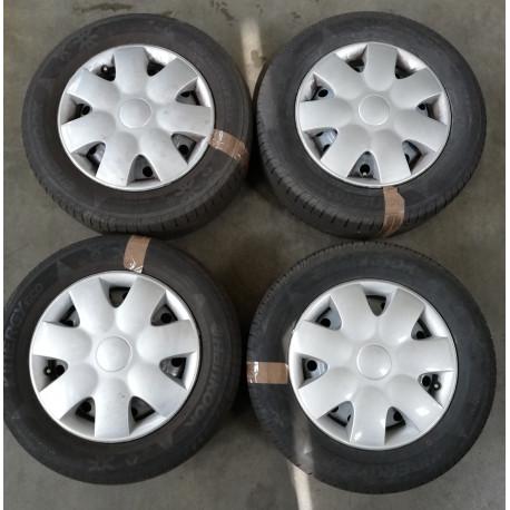 Kit cerchi in acciaio per Fiat Sedici + pneumatici + copriruota