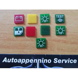 Serigrafie pulsanti d'epoca camion e auto